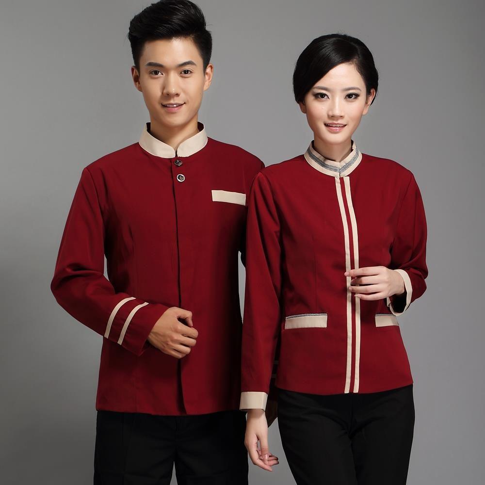 mẫu áo đồng phục nhà hàng mùa đông