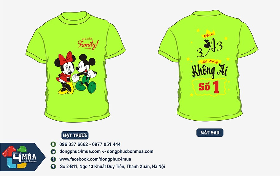 dong phuc lop 3a3 micky 1