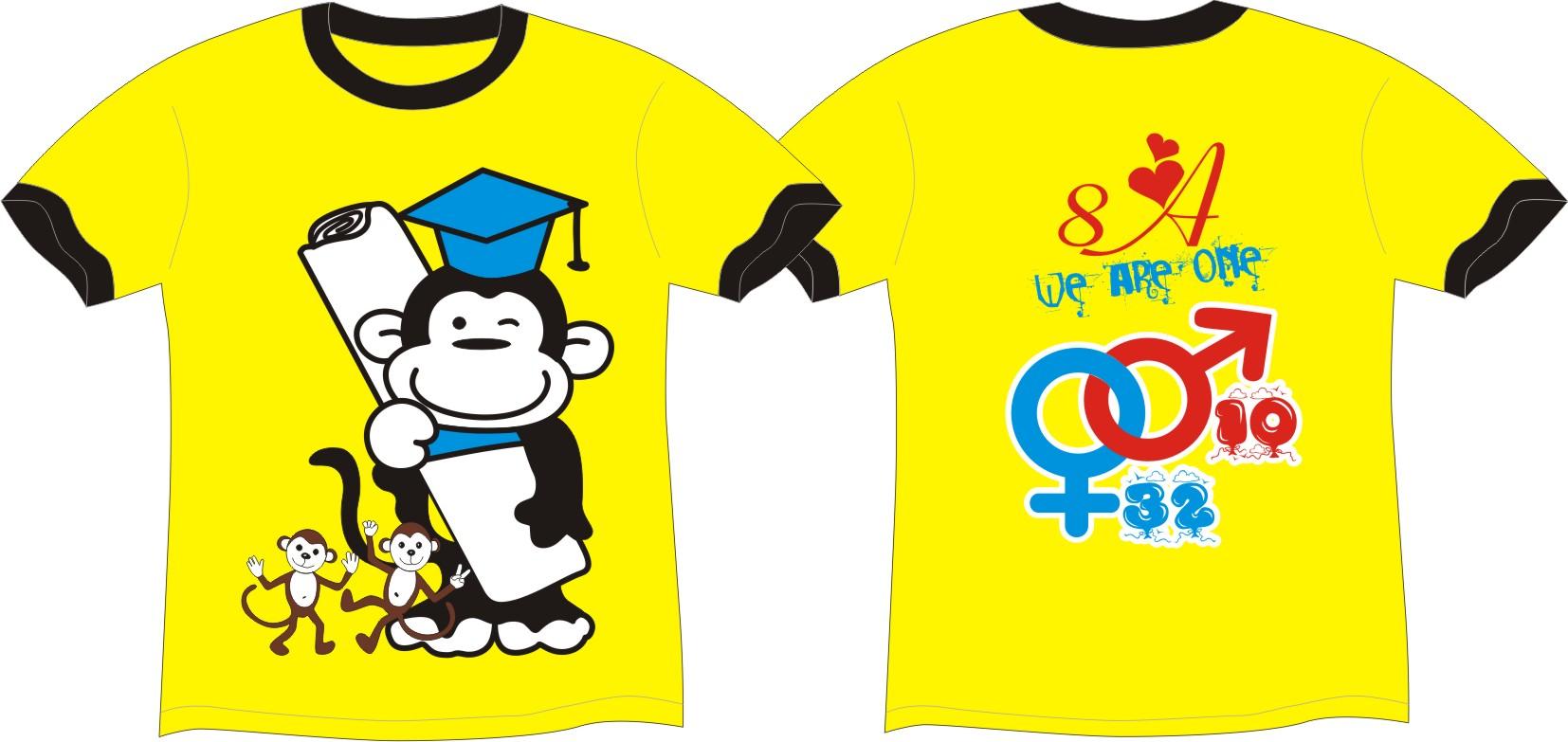 Mẫu áo phông đồng phục lớp với áo đôi dành cho nam nữ