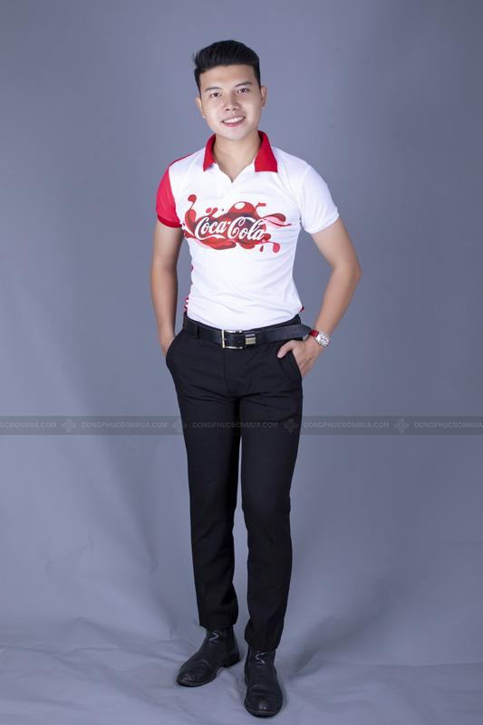 Trắng - đỏ được xem là sự kết hợp hoàn hảo cho đồng phục công ty.