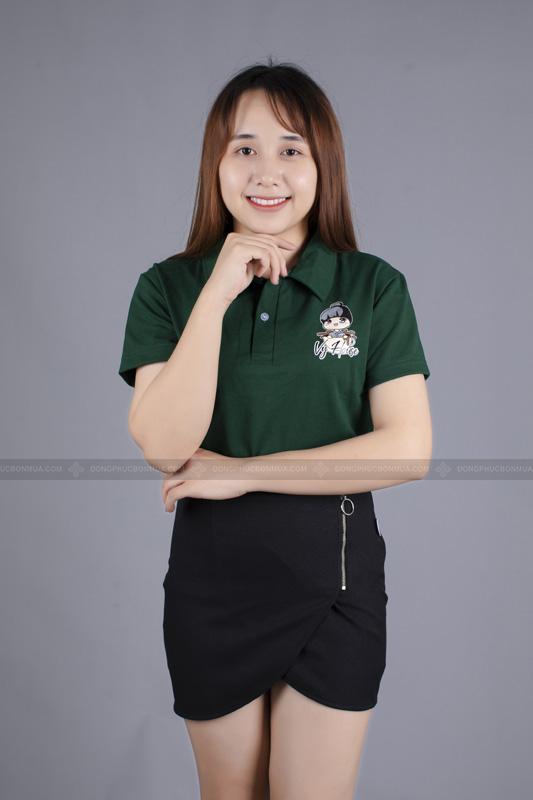 Kiểu dáng có cổ luôn tạo nên sự lịch sự, chuyên nghiệp của áo đồng phục công ty.