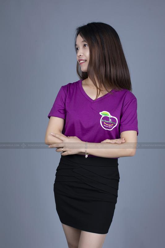 Sự trẻ trung và năng động của mẫu áo doanh nghiệp không cổ.