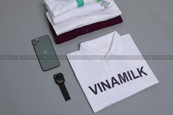 áo đồng phục vinamilk