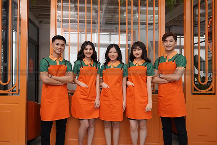 sử dụng áo đồng phục nhà hàng giúp tăng nhận diện thương hiệu