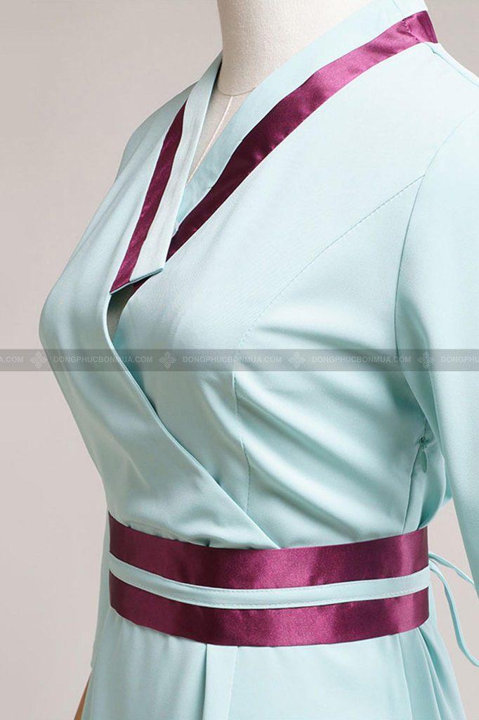 Cần kiểm tra kỹ về size áo và số lượng đồng phục spa trước khi đặt may.