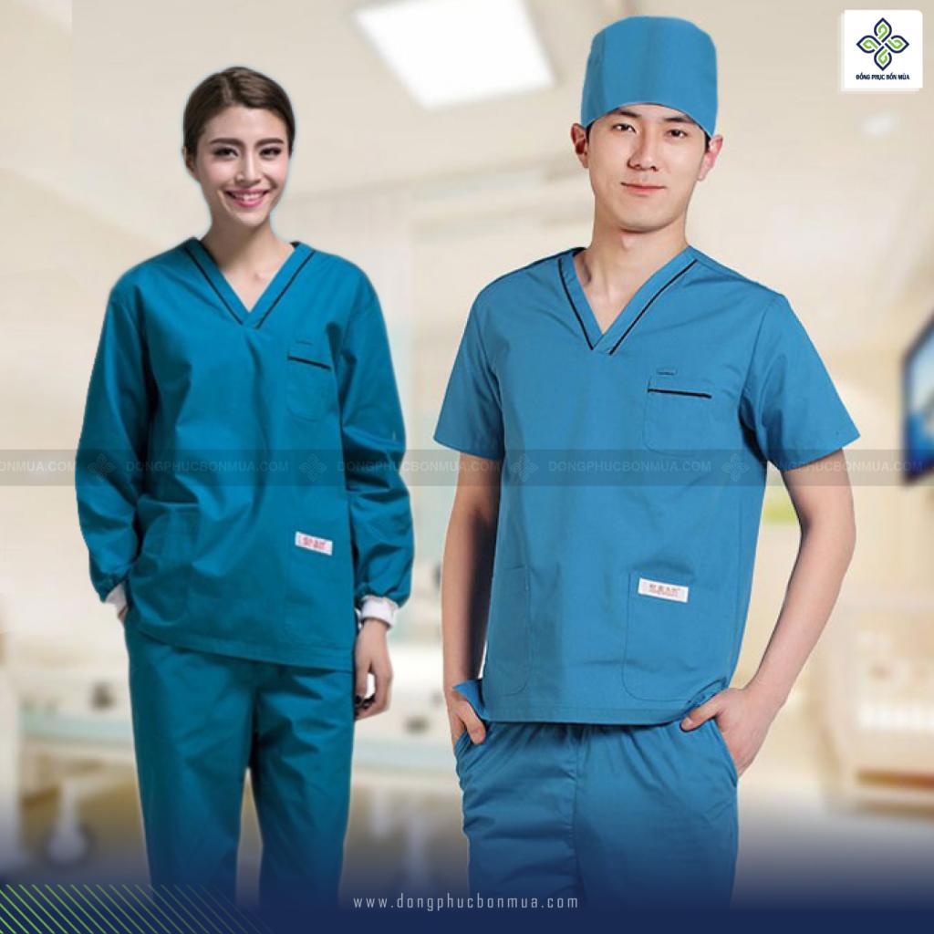 Có nhiều loại vải để may đồng phục y tế.