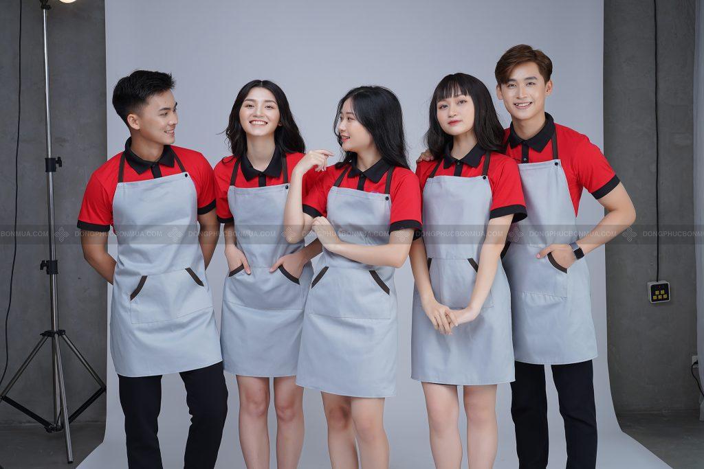 Áo đồng phục nhà hàng giá rẻ chất lượng khi chọn cơ sở uy tín