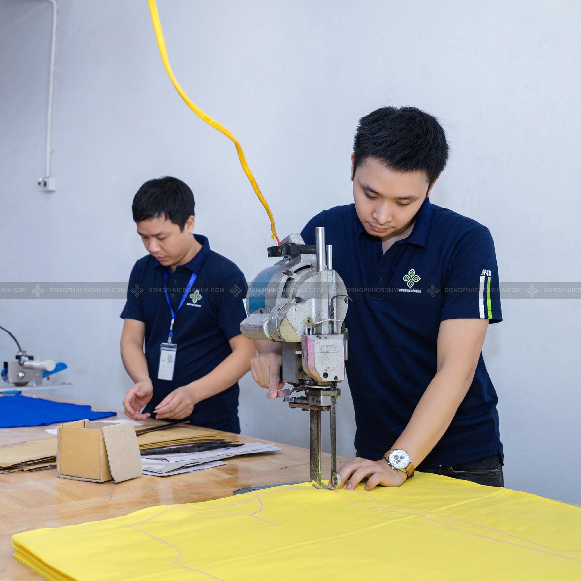 vải may áo đồng phục công ty