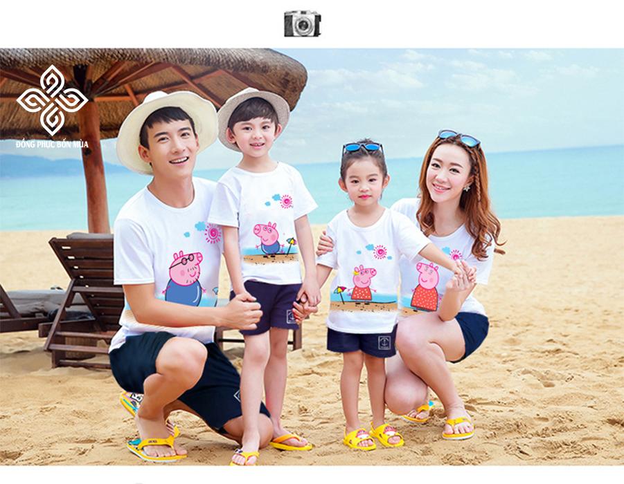 Lưu giữ những kỷ niệm đẹp với áo gia đình