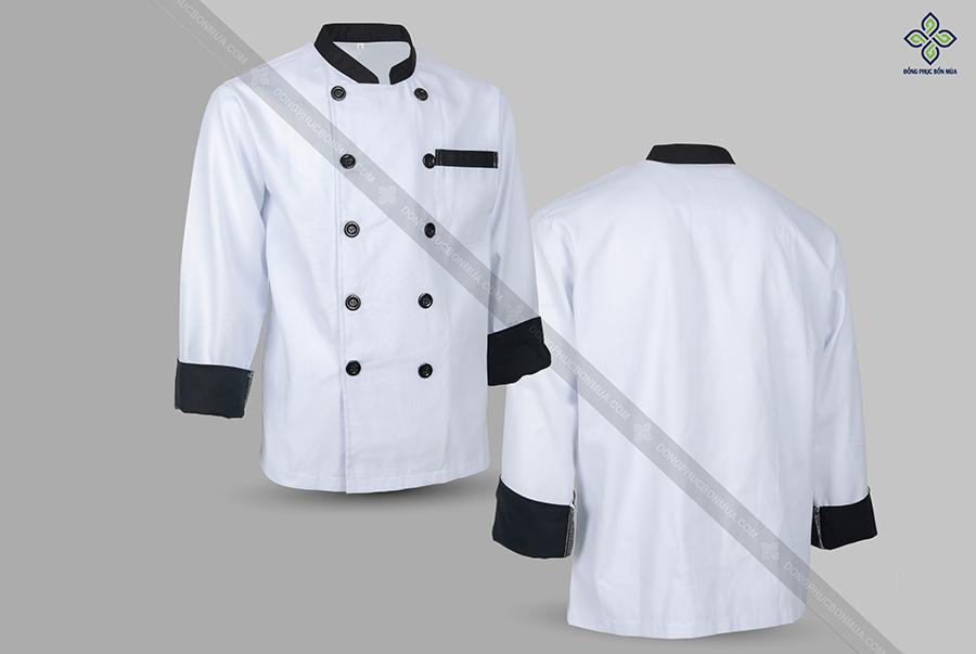 Màu trắng là màu sắc truyền thống của đồng phục bếp