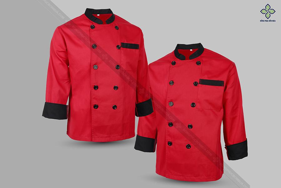 Đồng phục bếp màu đỏ giúp kích thích vị giác