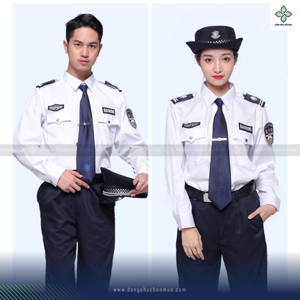 Mẫu quần áo bảo vệ màu trắng kết hợp với phụ kiện