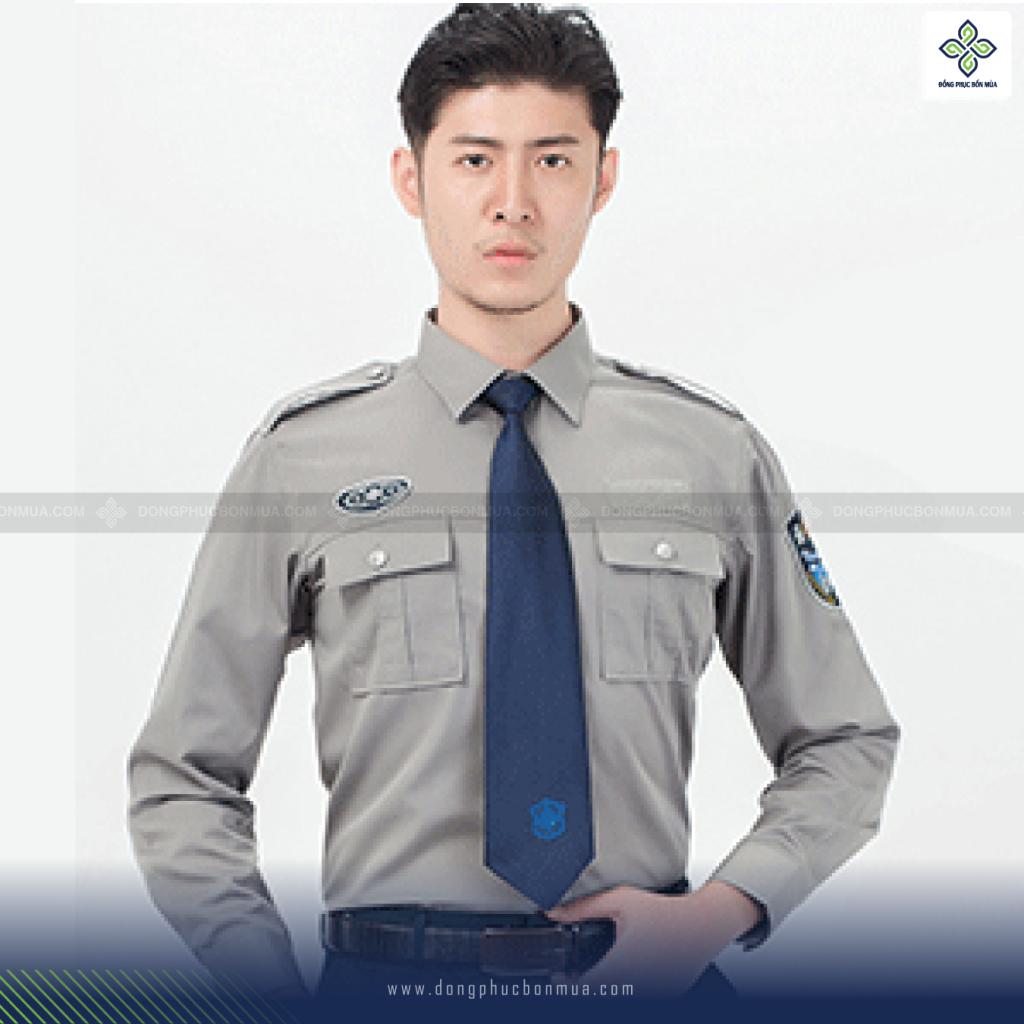 Áo đồng phục bảo vệ màu nâu độc đáo