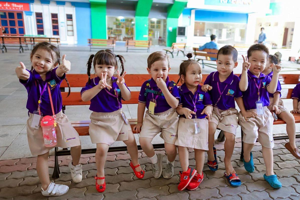 đồng phục học sinh mầm non đẹp