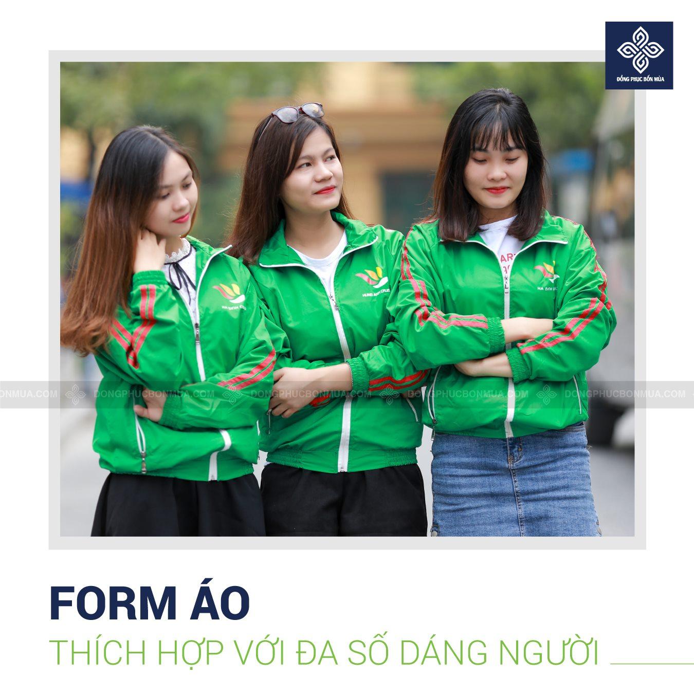 áo khoác gió đồng phục công ty