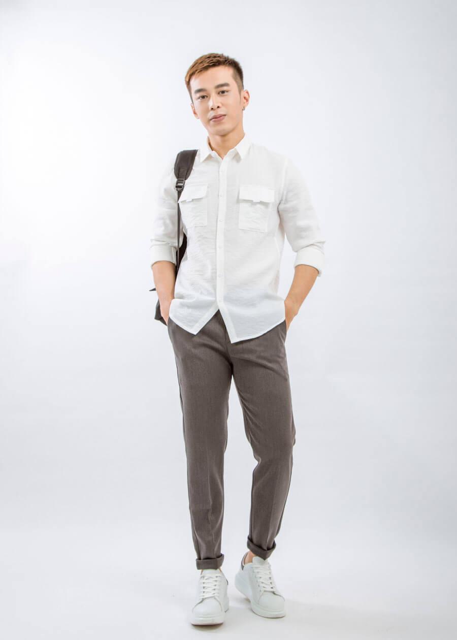 áo sơ mi trắng công sở