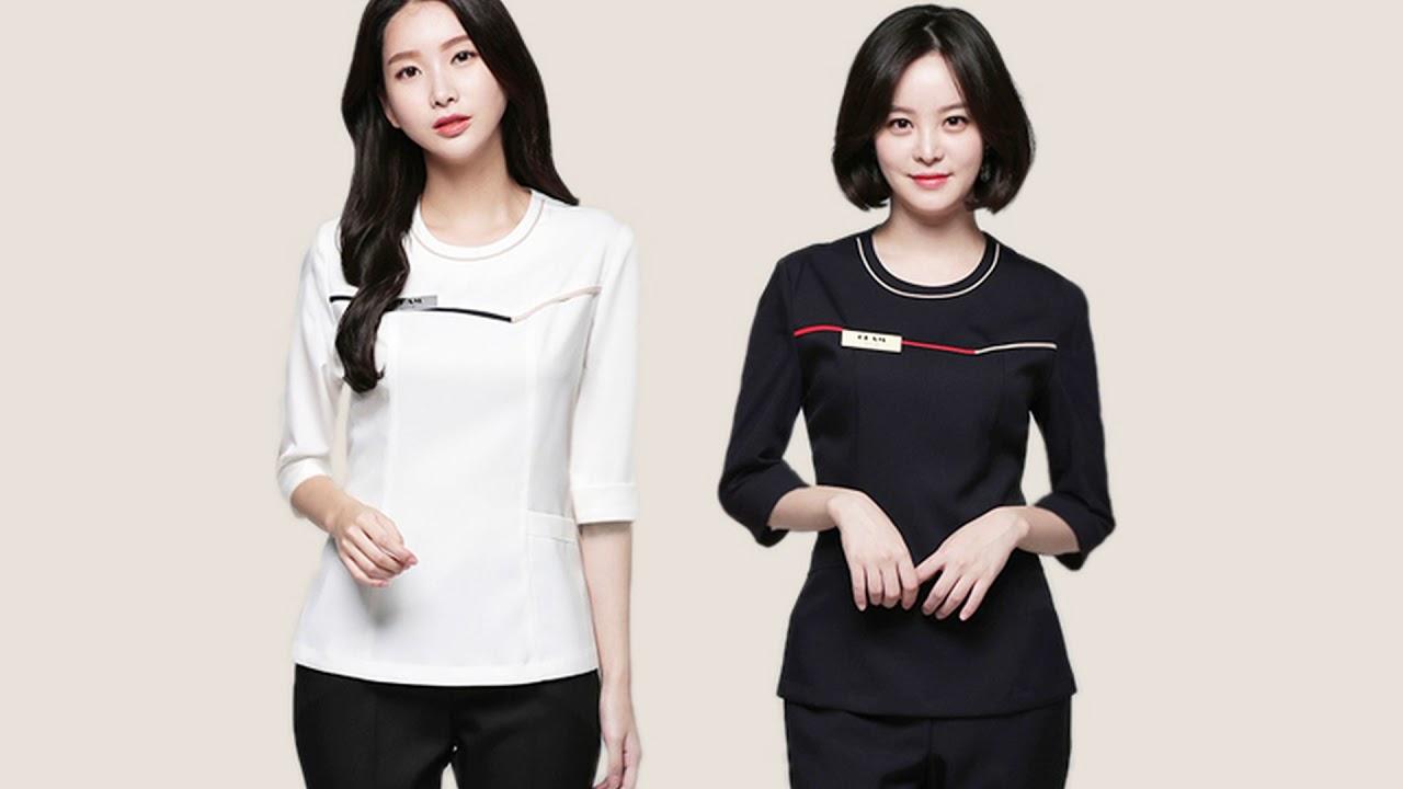 Áo đồng phục spa Hàn Quốc