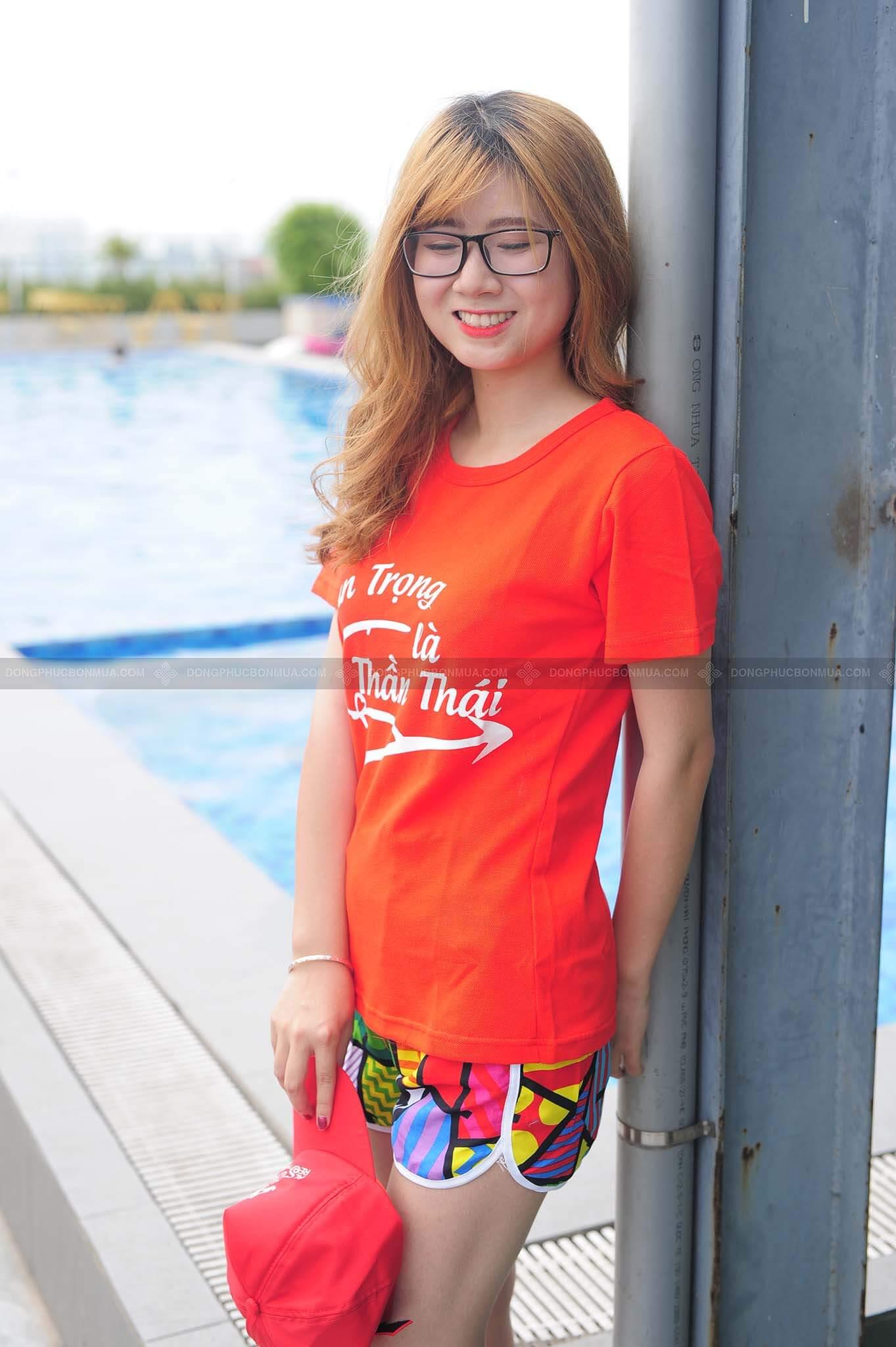 Đồng phục áo lớp màu cam ngói