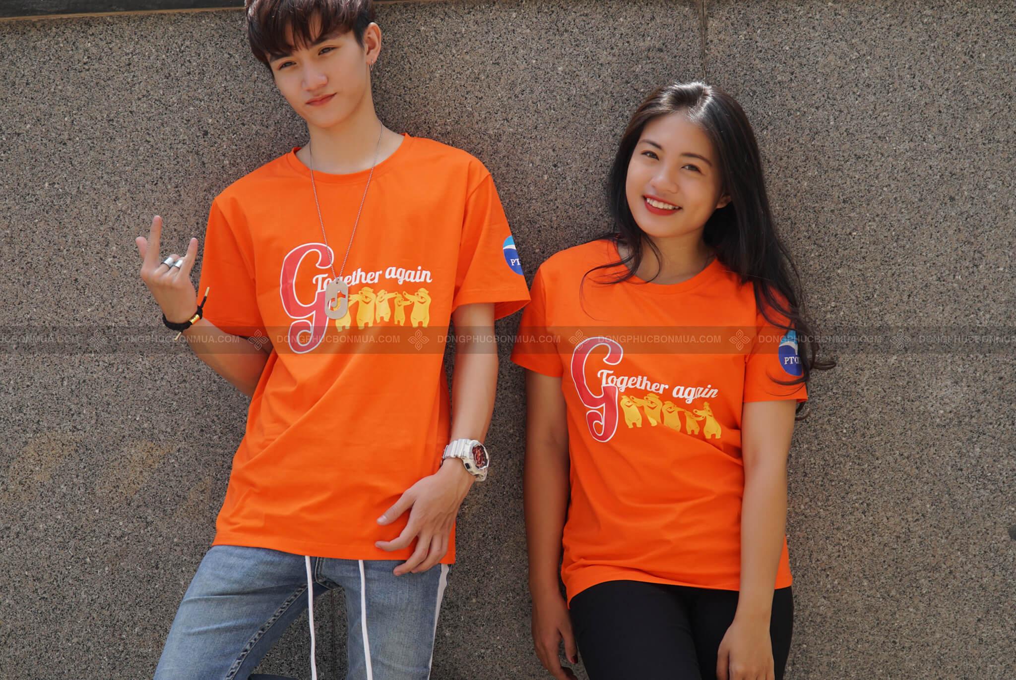 Mẫu áo đồng phục màu cam đậm