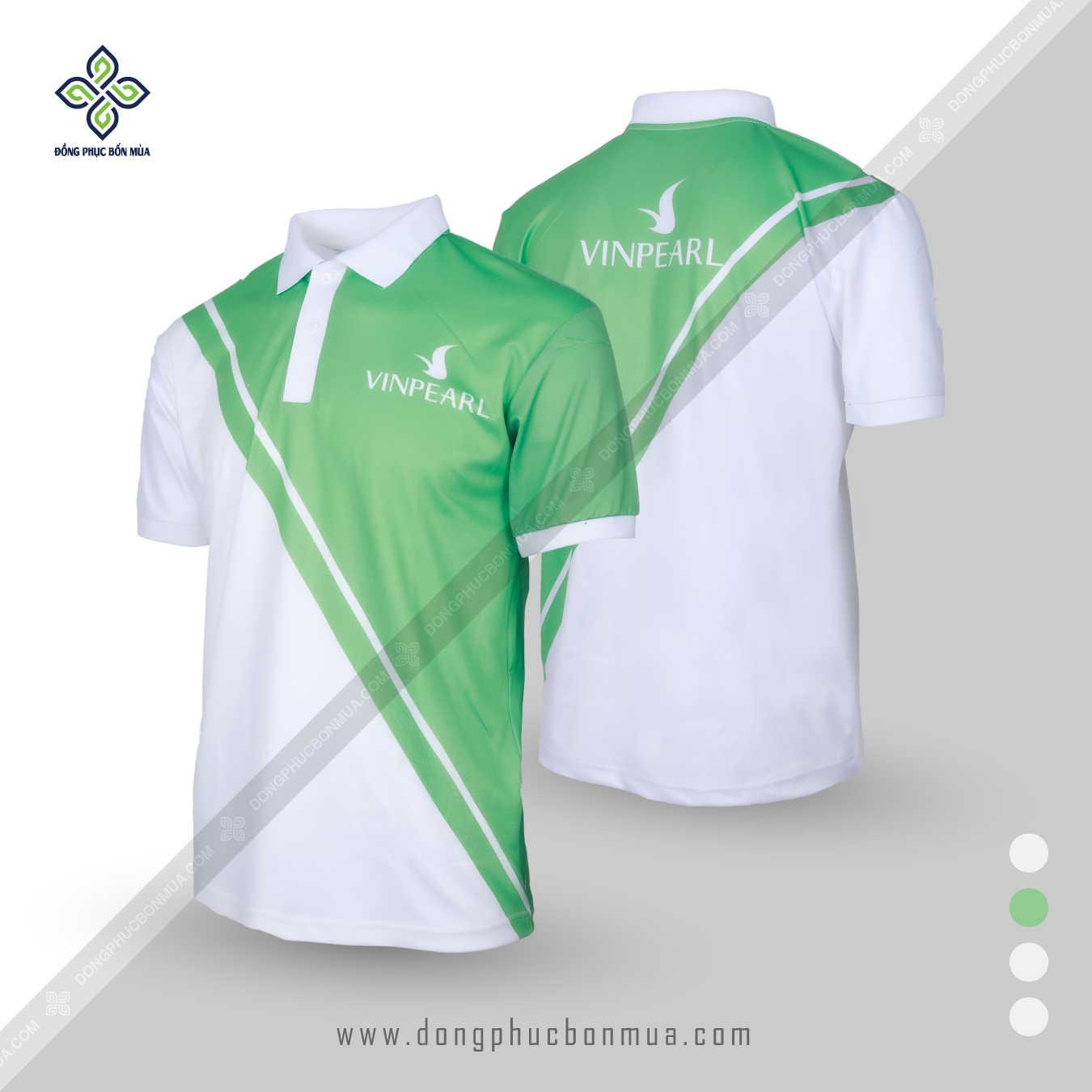 áo đồng phục màu xanh lá cây