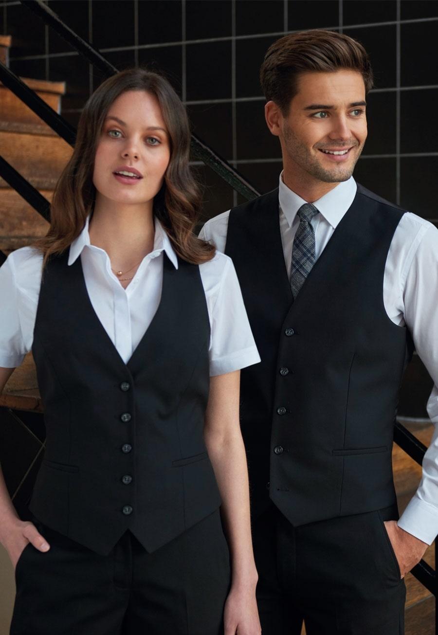 mẫu áo gile đồng phục nhà hàng