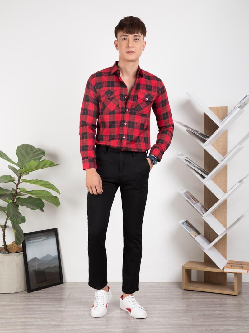 áo sơ mi nam đỏ