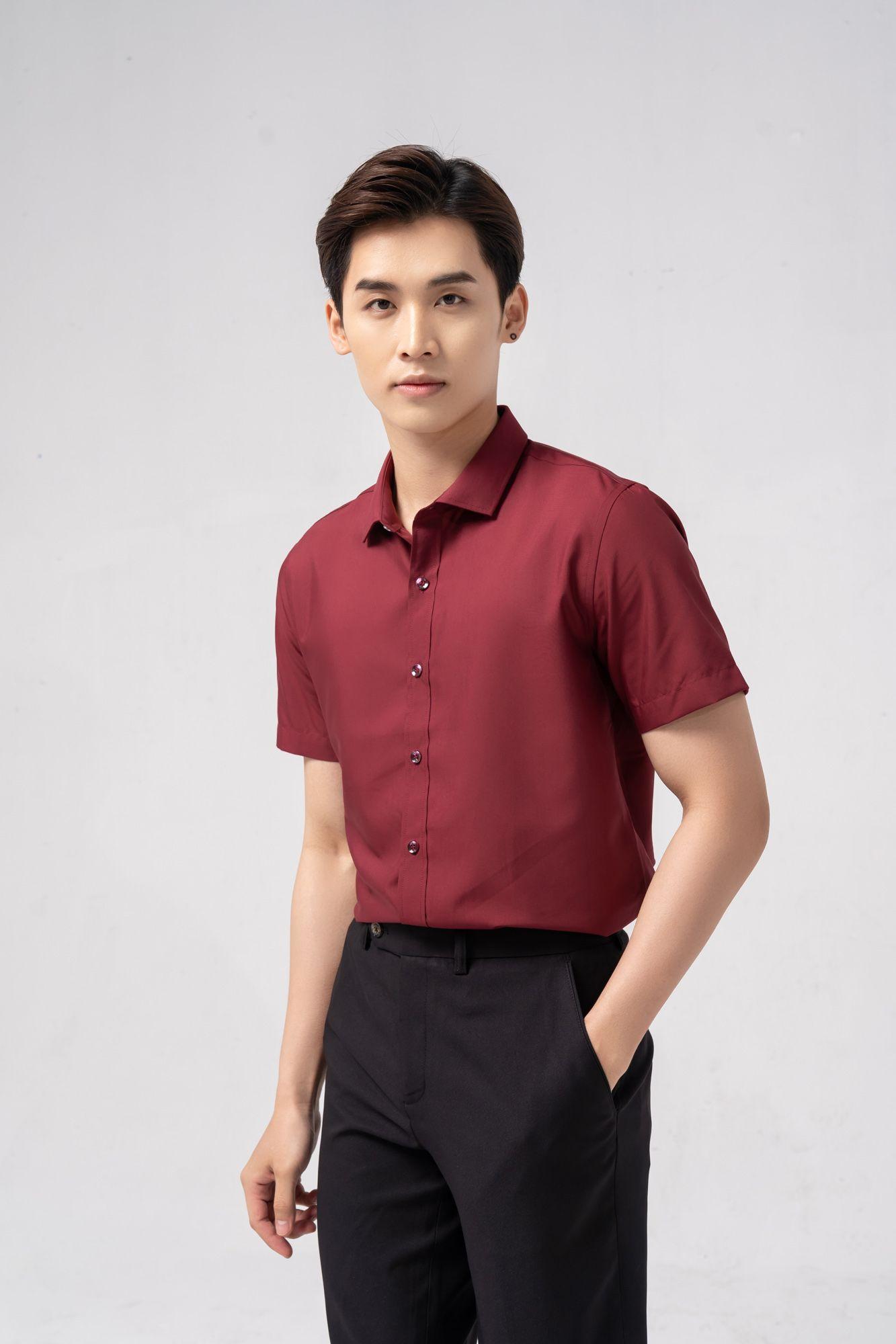 áo sơ mi nam màu đỏ