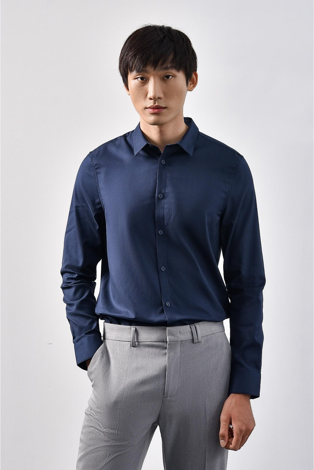 áo sơ mi nam xanh dương
