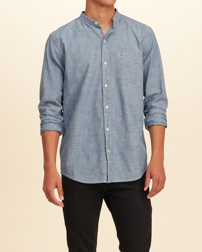 áo sơ mi nam màu xanh dương đậm