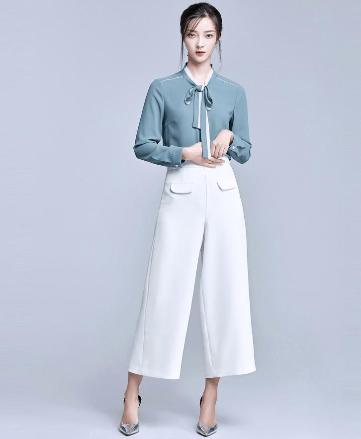 áo sơ mi nữ màu xanh dương nhạt