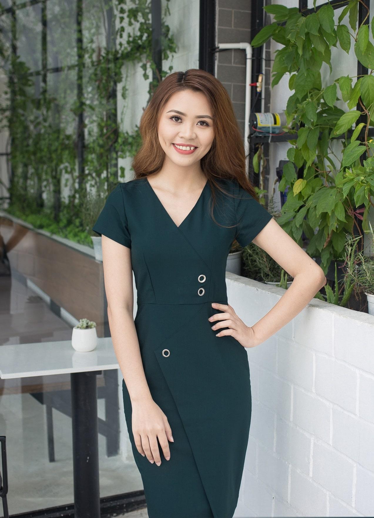 Đầm đồng phục công sở