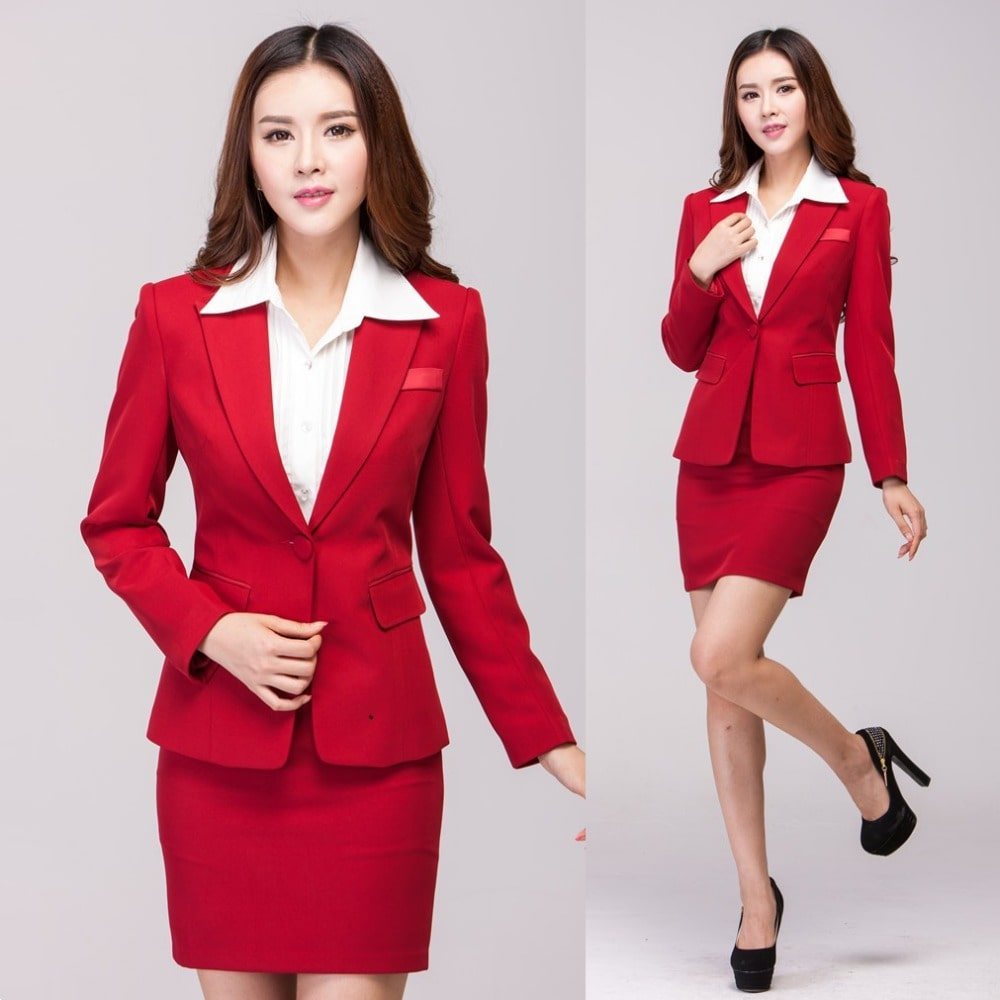 mẫu đầm đồng phục công sở