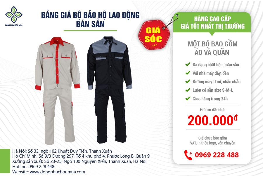 đồ đồng phục công nhân