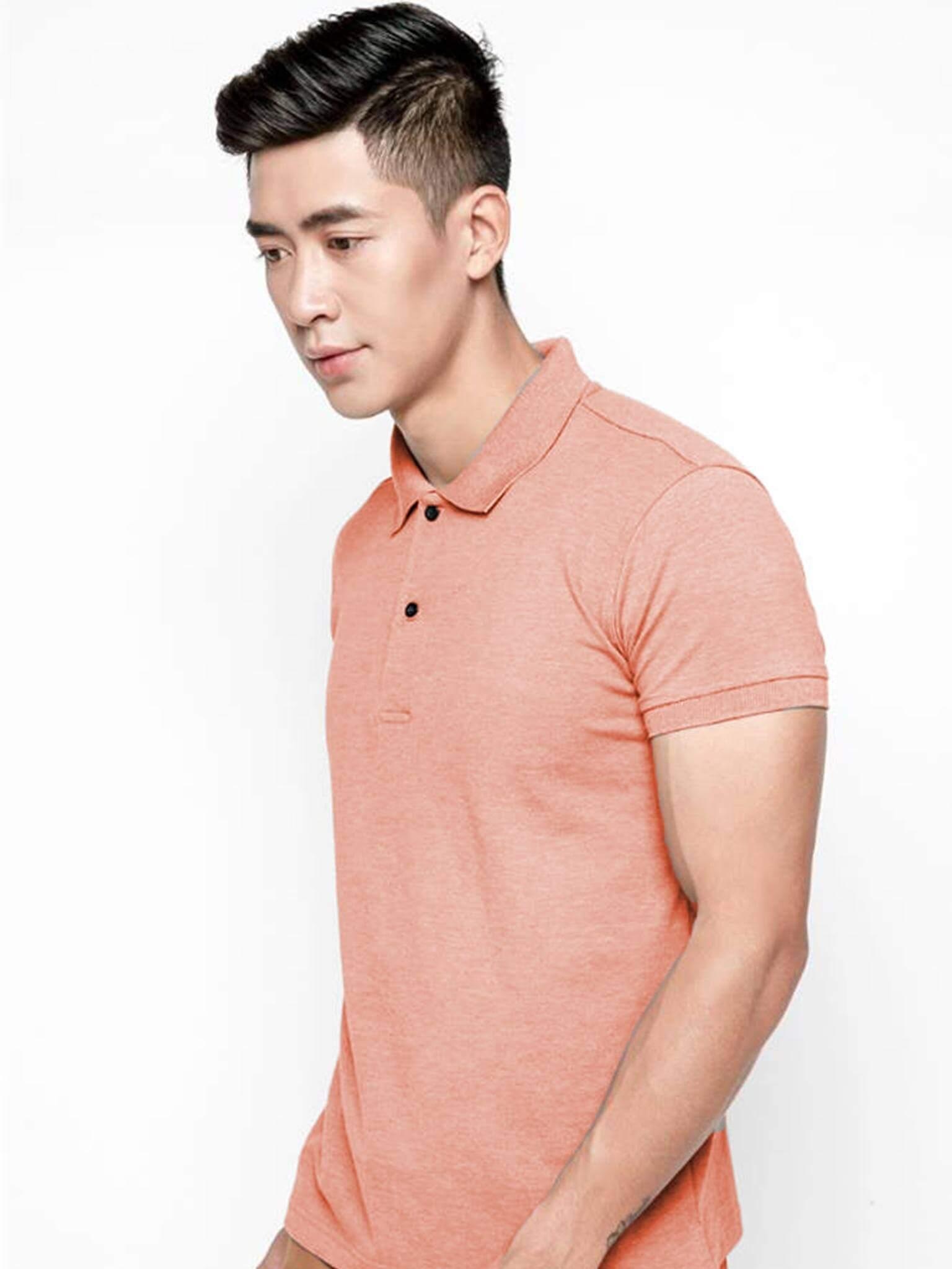 Mẫu áo đồng phục màu cam lợt