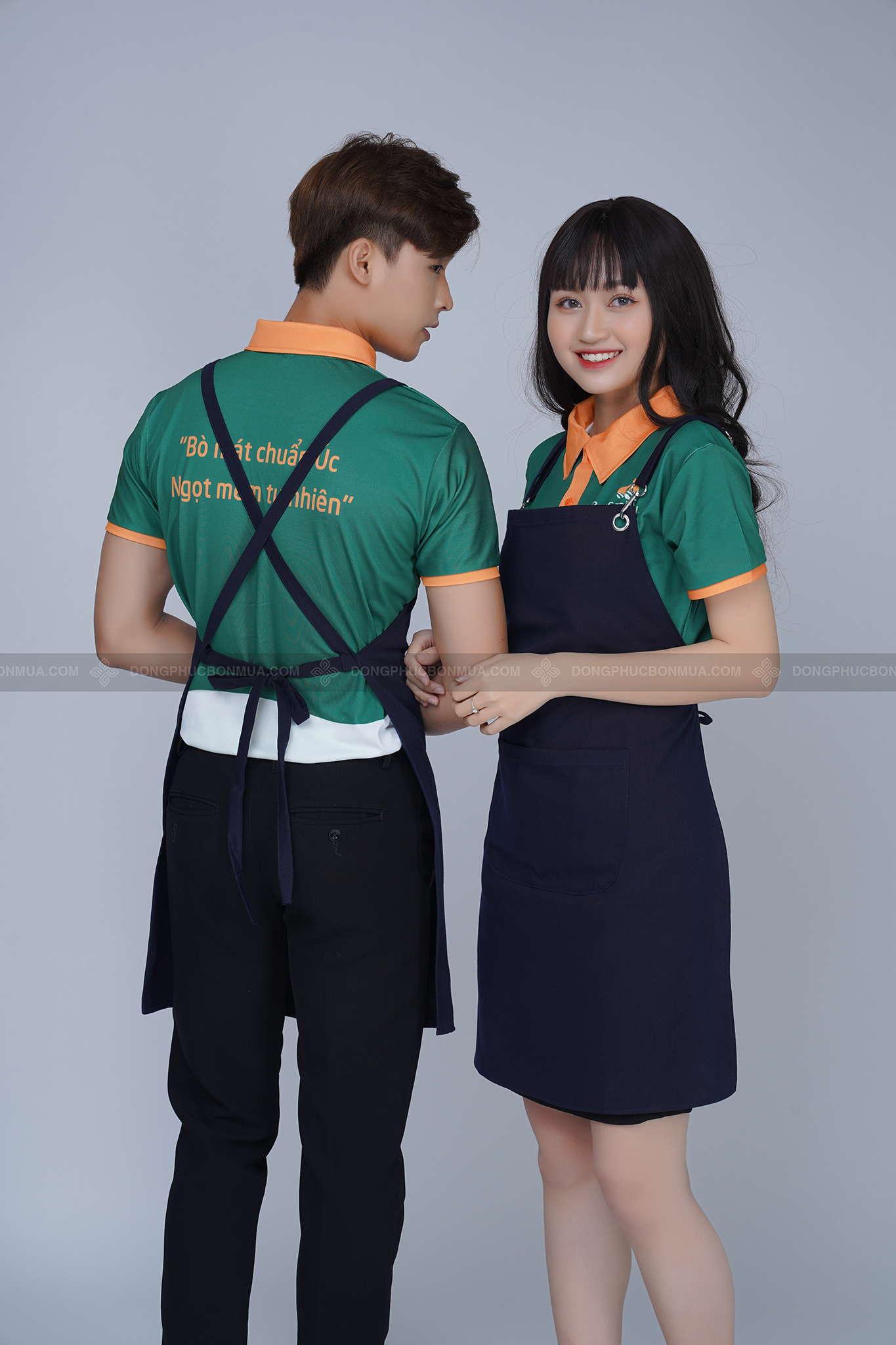 mẫu áo đồng phục nhà hàng