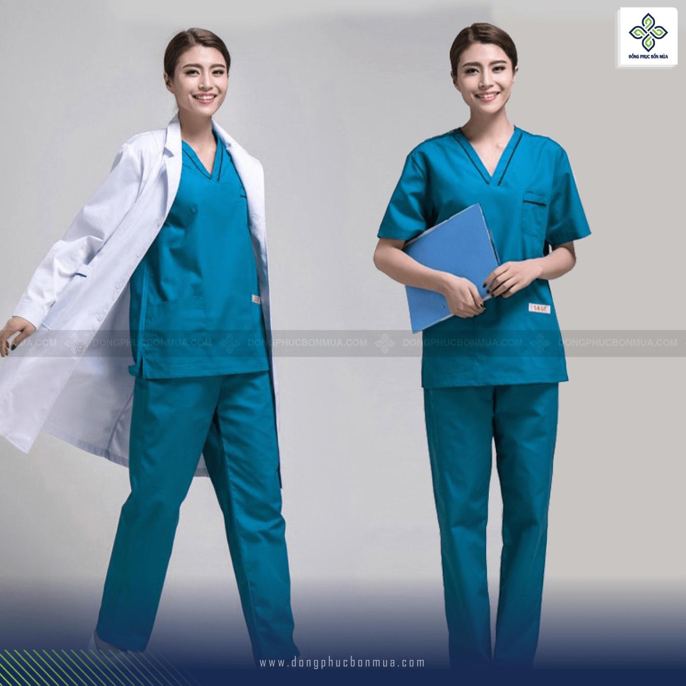 mẫu đồng phục y tế đẹp