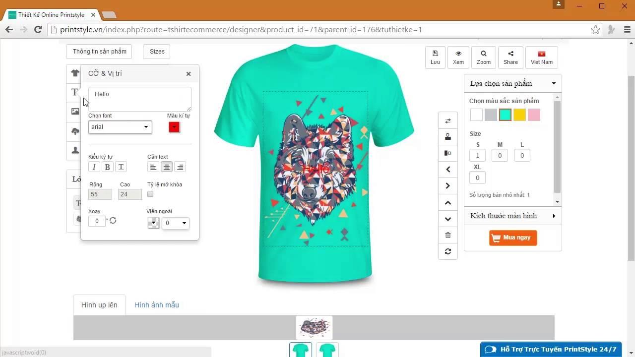 phần mềm thiết kế áo phông