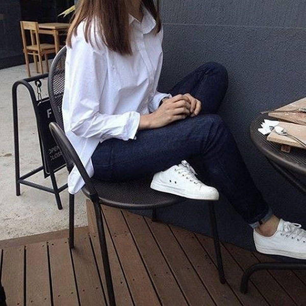 phối giày với quần tây áo sơ mi trắng