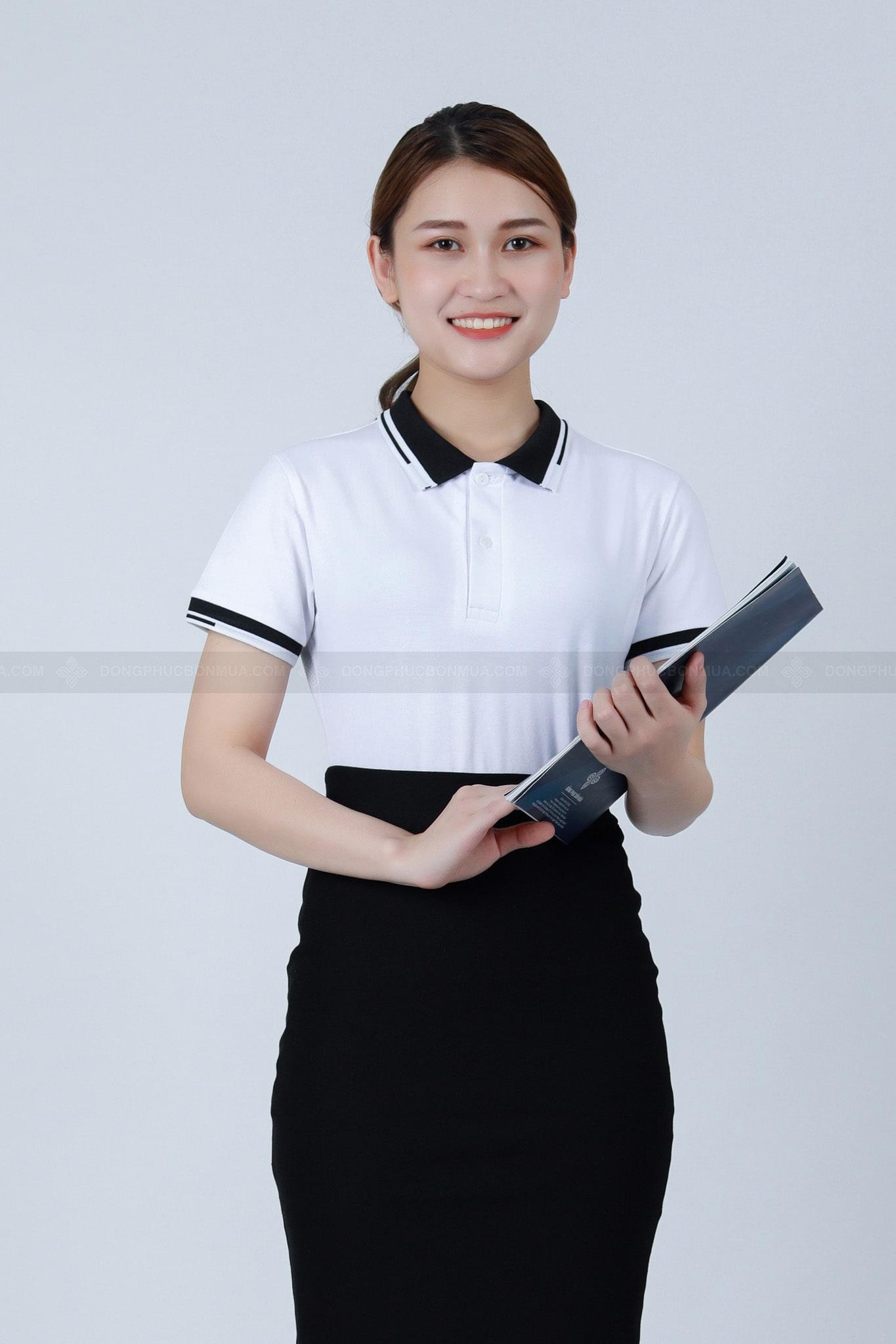 đồng phục áo phông trắng