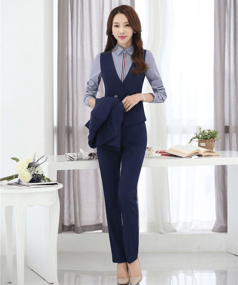 mẫu áo gile nữ công sở đẹp