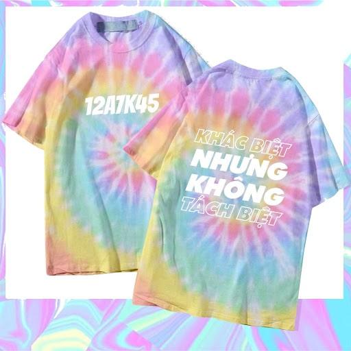 mẫu áo lớp tie dye
