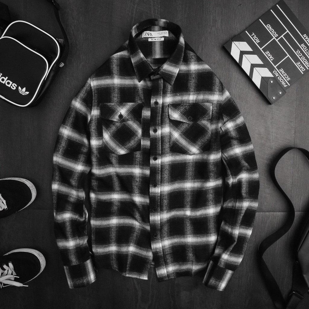 áo sơ mi đen