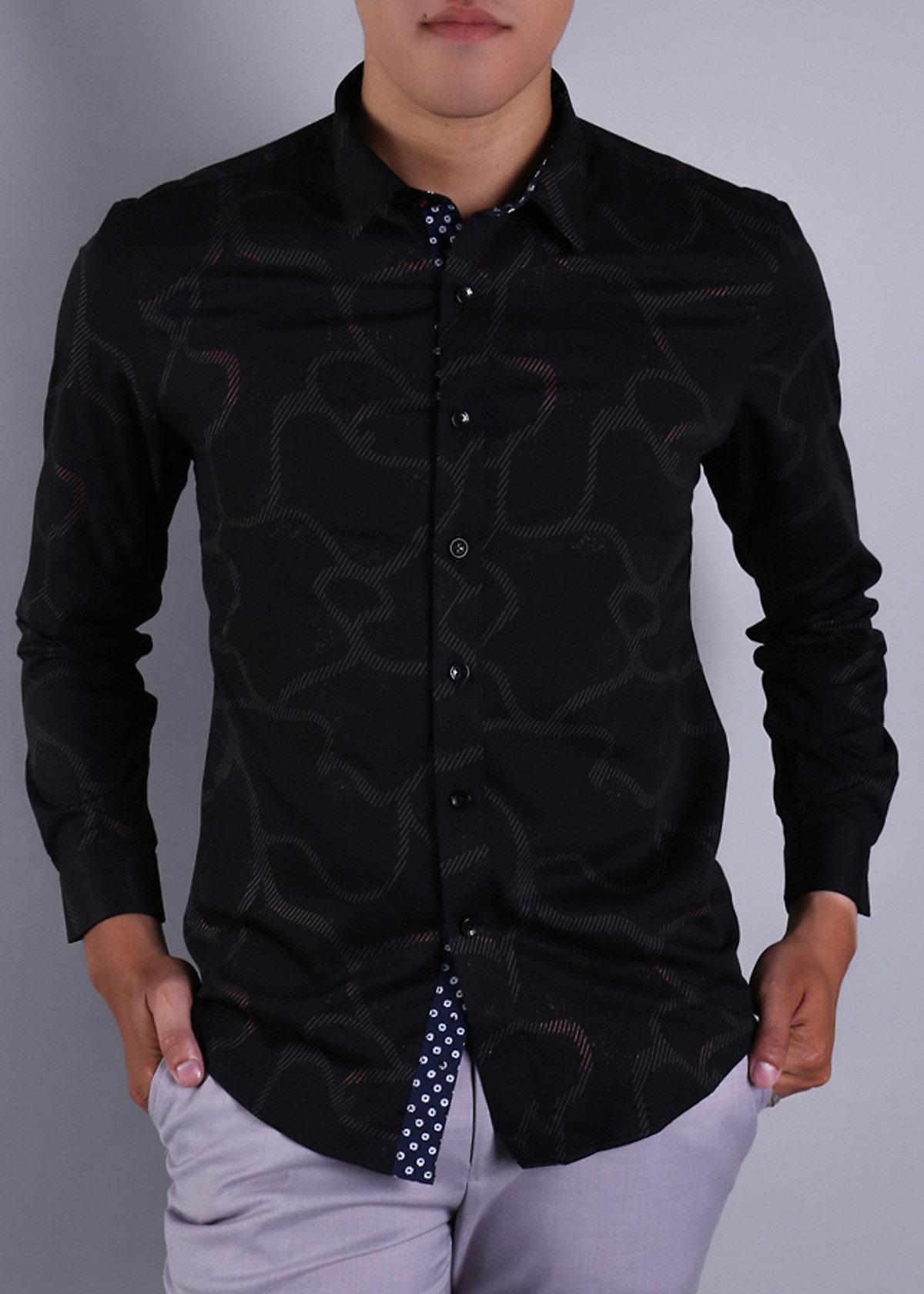 áo sơ mi nam đen