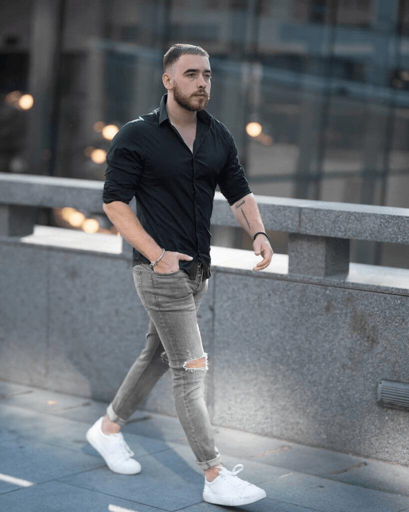 áo sơ mi đen nam cao cấp