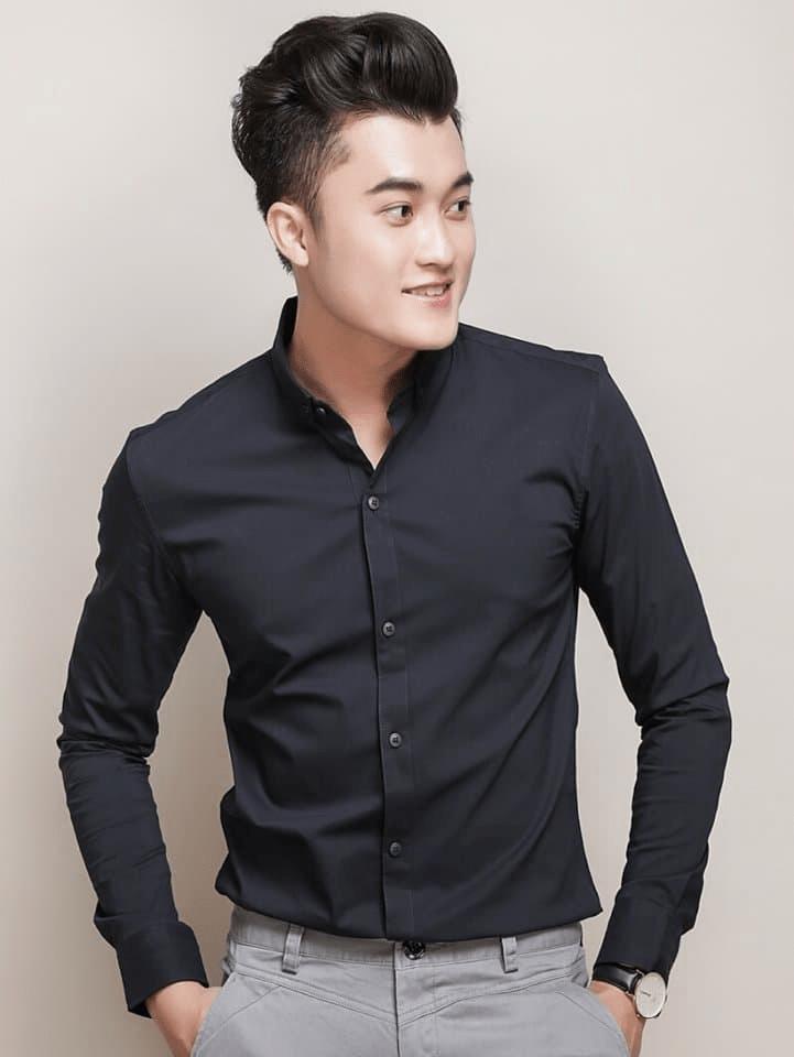 áo sơ mi nam đen đẹp