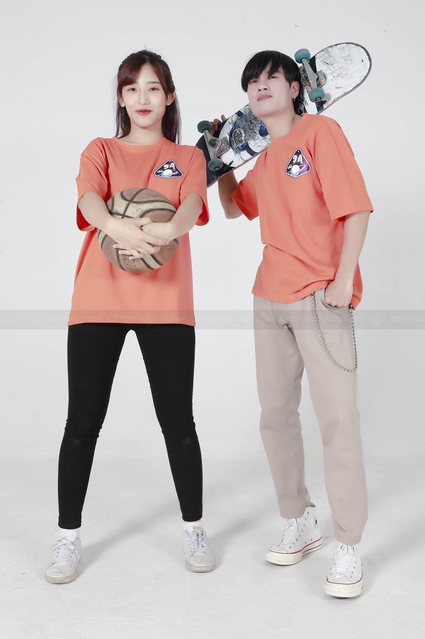 áo thun đồng phục màu cam