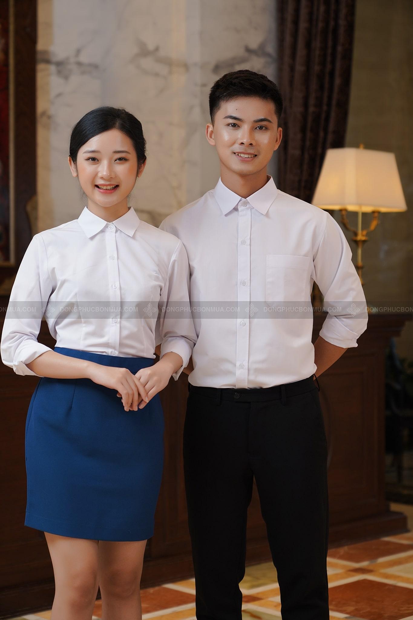 mẫu đồng phục lễ tân khách sạn
