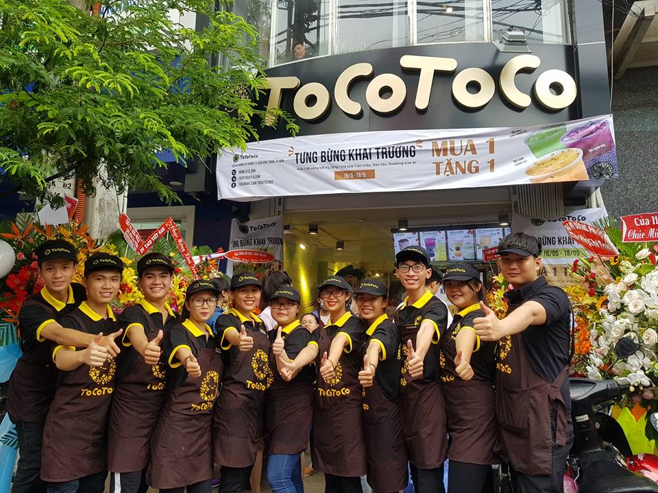 Đồng phục quán Tocotoco